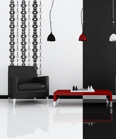Vinyl Wall Decal Sticker Abstract Chains #OS_DC323