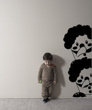 Vinyl Wall Decal Sticker Peeping Clowns #OS_MG337