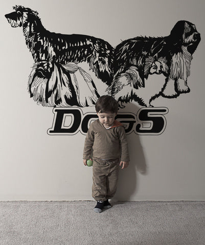 Vinyl Wall Decal Sticker Shaggy Dogs #OS_AA616