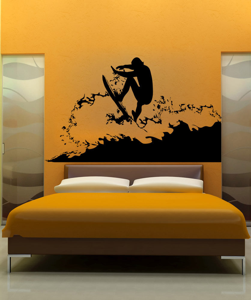 Vinyl Wall Decal Sticker Surfer #AC180