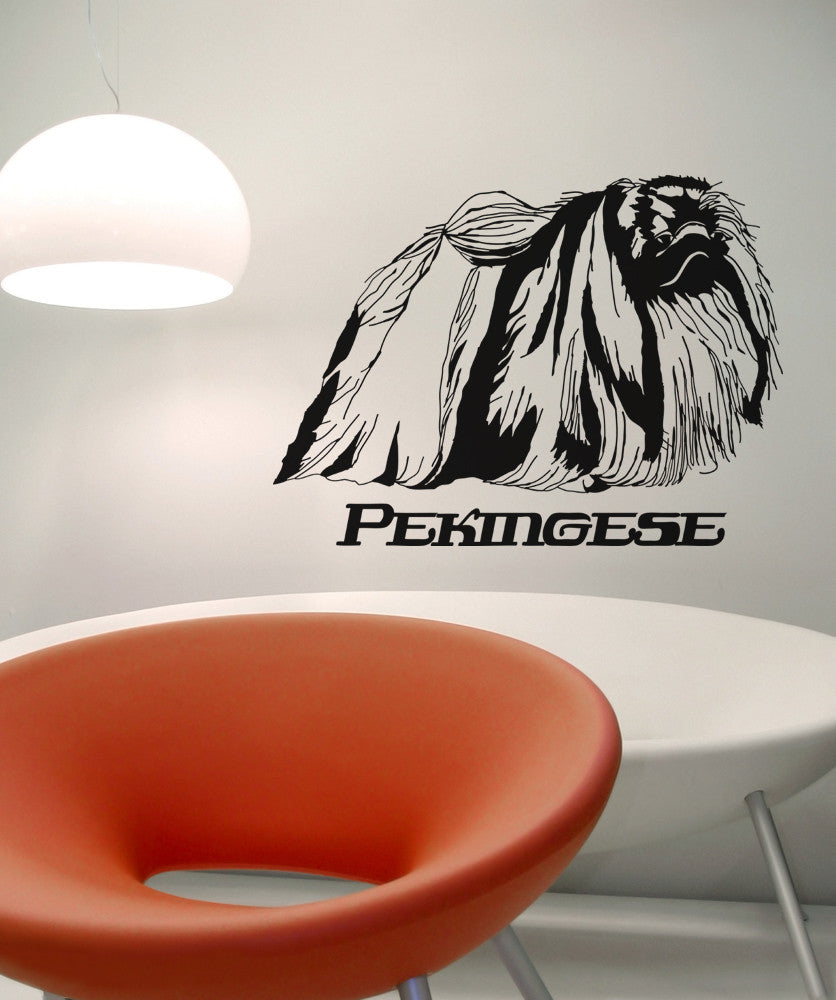 Vinyl Wall Decal Sticker Pekingese #OS_AA628