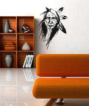 Vinyl Wall Decal Sticker Native American Elder Woman #OS_AA393