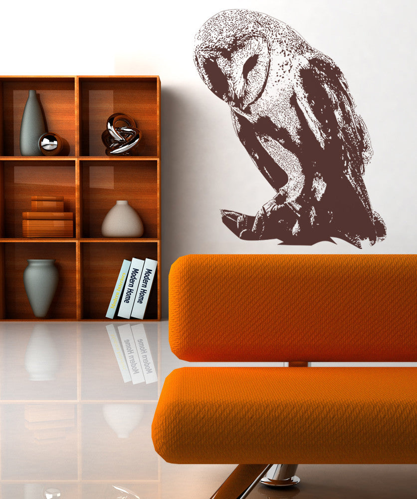 Vinyl Wall Decal Sticker Australian Barn Owl #OS_AA498