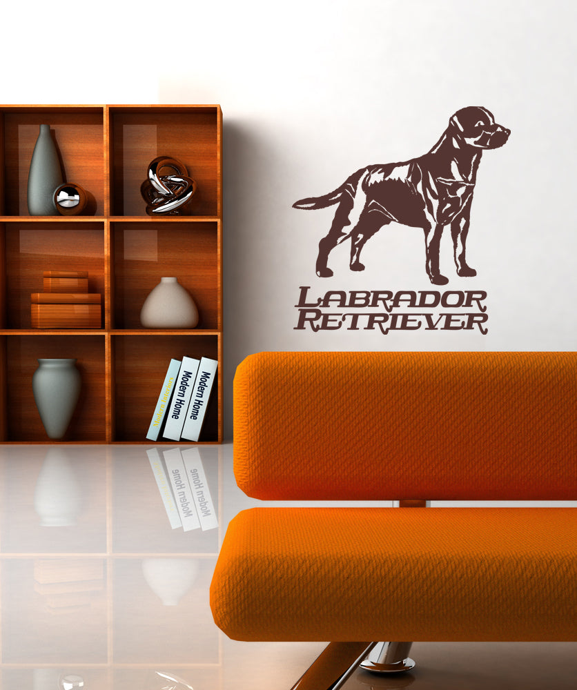 Vinyl Wall Decal Sticker Labrador Retriever #OS_AA625