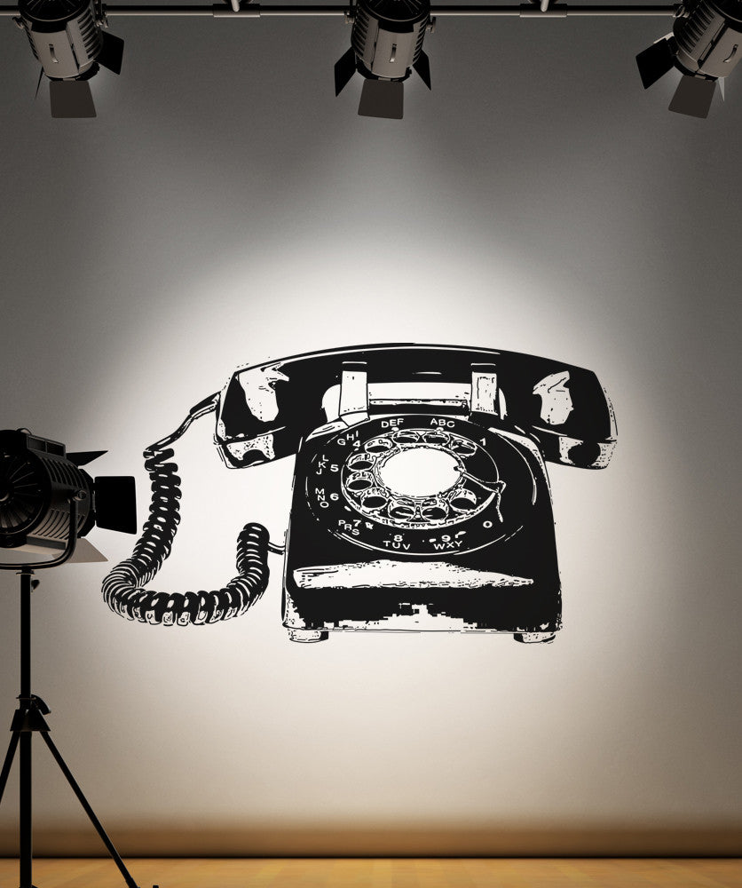 Vinyl Wall Decal Sticker Rotary Telephone #OS_AA169