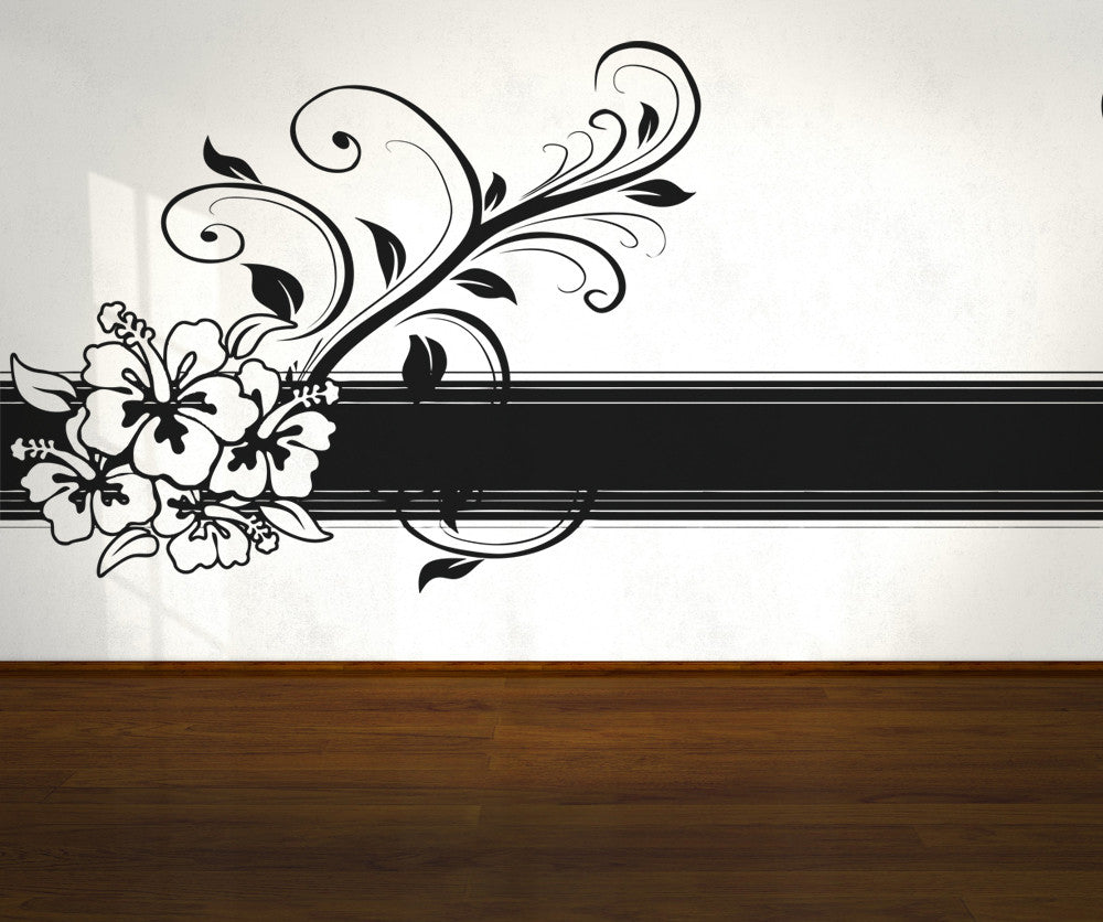 Vinyl Wall Decal Sticker Hawaiian Border Os Aa371