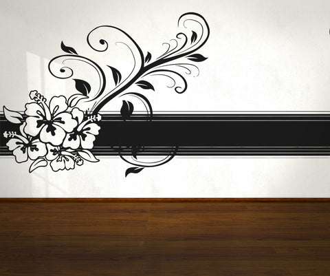 Vinyl Wall Decal Sticker Hawaiian Border #OS_AA371