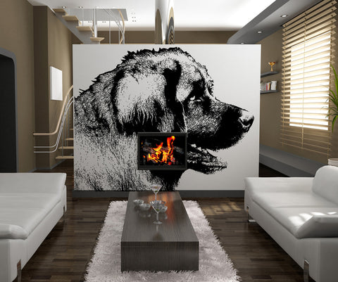 Vinyl Wall Decal Sticker Large Dog #OS_AA572