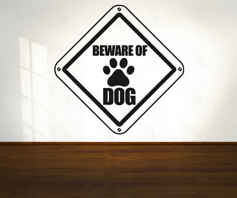 Vinyl Wall Decal Sticker Beware of Dog Sign #OS_AA566