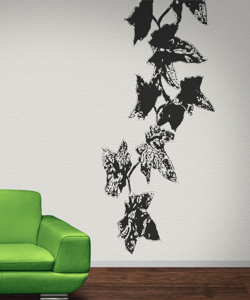 Vinyl Wall Decal Sticker Dangling Leaves On Vines OSAA - Wall decals leaves