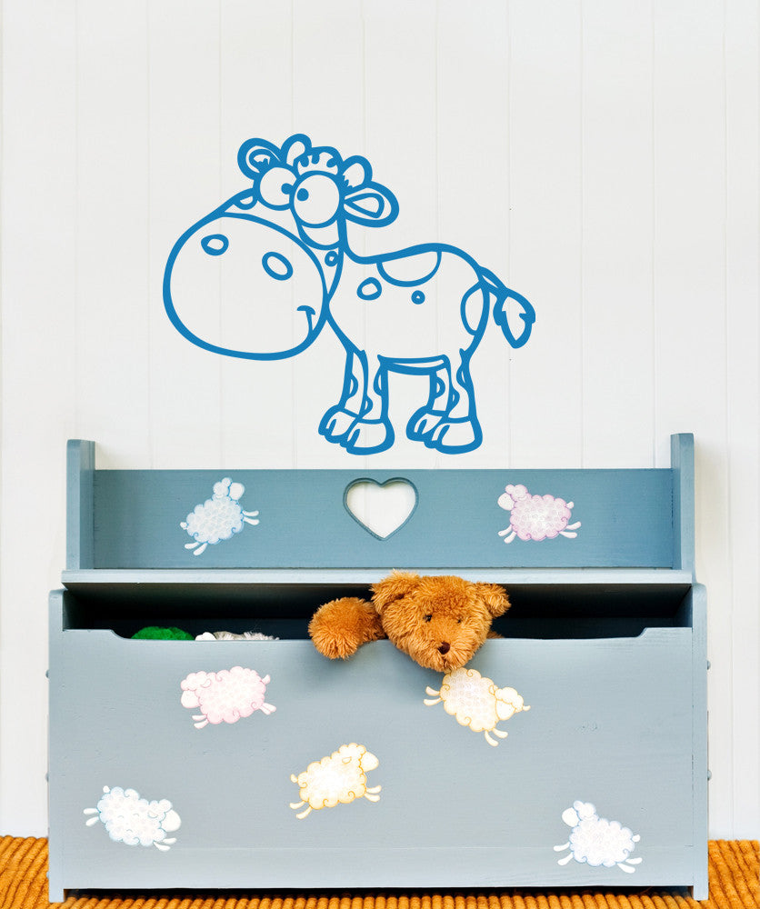 Vinyl Wall Decal Sticker Cow #OS_AA611