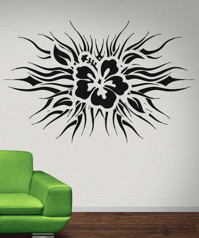 Vinyl Wall Decal Sticker Tropical Flower Design #OS_AA275