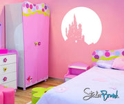 Vinyl Wall Decal Sticker Castle over Moon #KTudor102