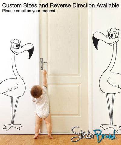Vinyl Wall Decal Flamingo Standing Straight #CBenson104