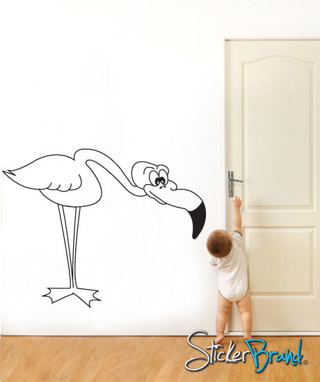Vinyl Wall Decal Flamingo Bent #CBenson103