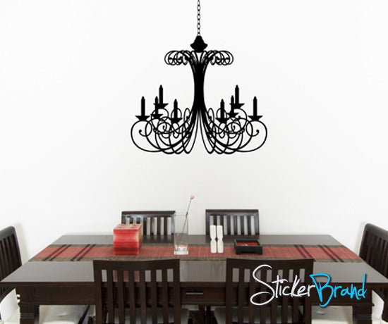 Vinyl Wall Decal Sticker Chandelier #KTudor104