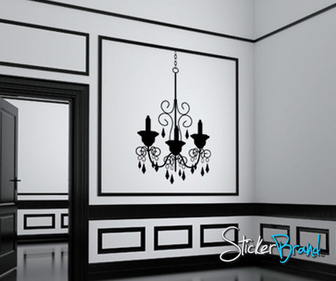 Vinyl Wall Decal Sticker Chandelier #KTudor105