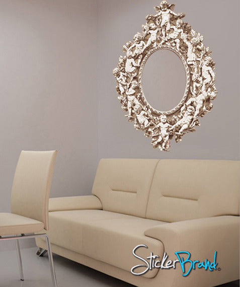 Graphic Wall Decal Sticker Cherub Frame Natural Color #GWray111