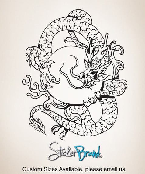 Vinyl Wall Decal Sticker  Chinese Dragon #820