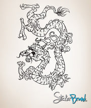 Vinyl Wall Decal Sticker Chinese Dragon #823