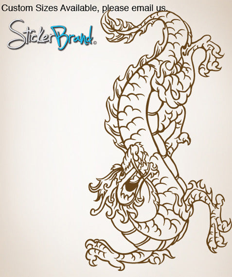 Vinyl Wall Decal Sticker Chinese Dragon #824