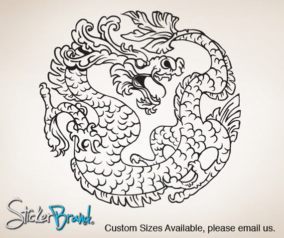 Vinyl Wall Decal Sticker Chinese Dragon  #825