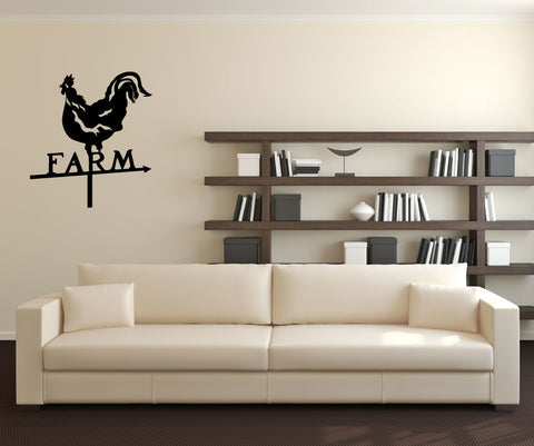 Vinyl Wall Decal Sticker Chicken Sign #OS_MG228
