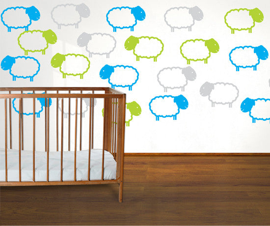 Vinyl Wall Decal Sticker Counting Sheeps Combination #MM140