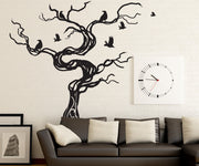 Vinyl Wall Decal Sticker Crows Tree #GFoster172