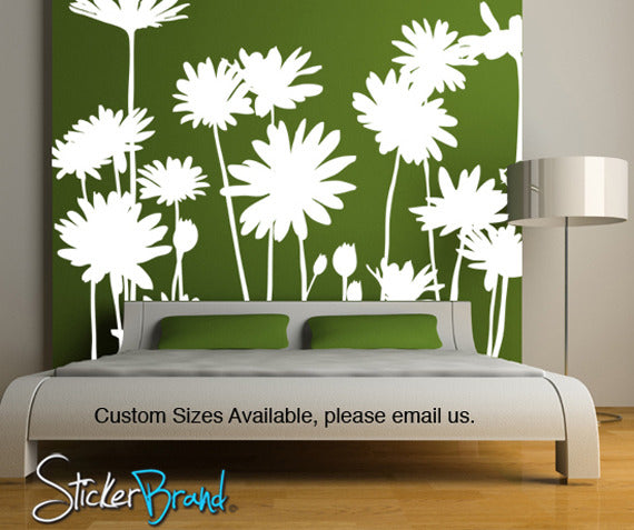 Large Flower Wall Decals Vinyl Flower Stickers StickerBrand - Custom vinyl wall decals flowers