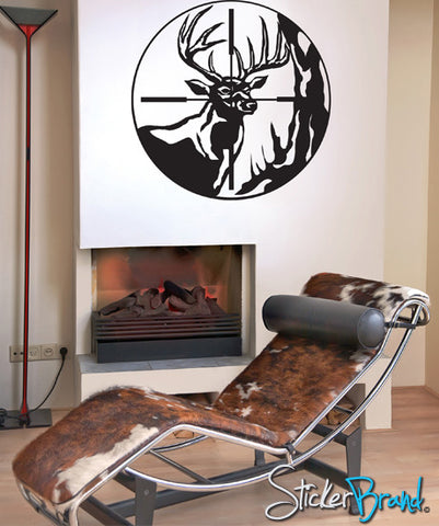 Deer Hunting Wall Decal. Scope View Aiming at Deer by Hunter. #GFoster105
