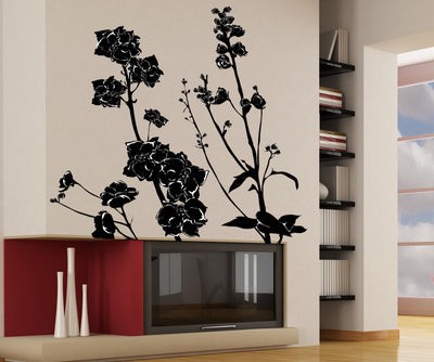 Vinyl Wall Decal Sticker Delphiniums #AC168