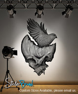 Graphic Wall Decal Sticker Skull and Bird #MConde104