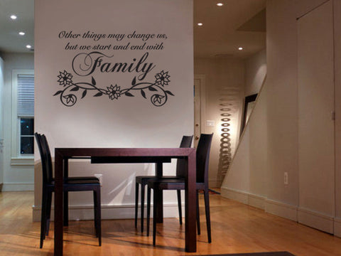 "Vinyl Wall Lettering Decal Other Things May -"" Family "" #P104"