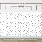 Circle Polka Dots Pattern Peel and Stick Wallpaper | Removable Wall Mural #6206