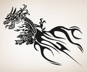 Vinyl Wall Decal Sticker Tribal Chinese Dragon #OS_AA533