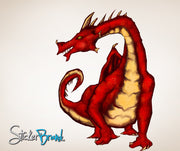 Graphics Wall Decal Sticker Dragon #JH106