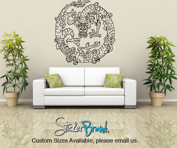 Vinyl Wall Decal Sticker Chinese Dragon - Custom vinyl wall decals dragon