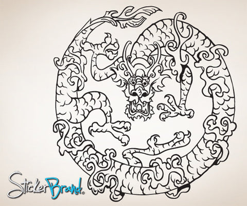 Vinyl Wall Decal Sticker Chinese Dragon #817