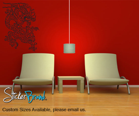 Vinyl Wall Decal Sticker Chinese Asian Dragon - Custom vinyl wall decals dragon
