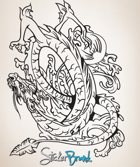 Vinyl Wall Decal Sticker Chinese Dragon #818