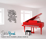 Vinyl Wall Decal Sticker Chinese Asian Dragon #822