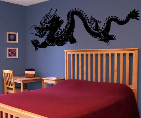 Chinese Dragon Wall Decal. Asian Home Decor. #MMartin146