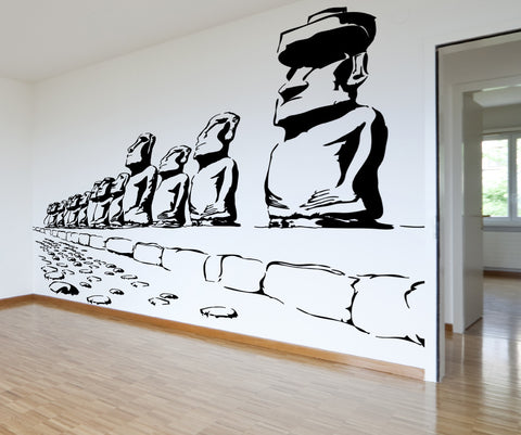 Vinyl Wall Decal Sticker Easter Island Army #AC206