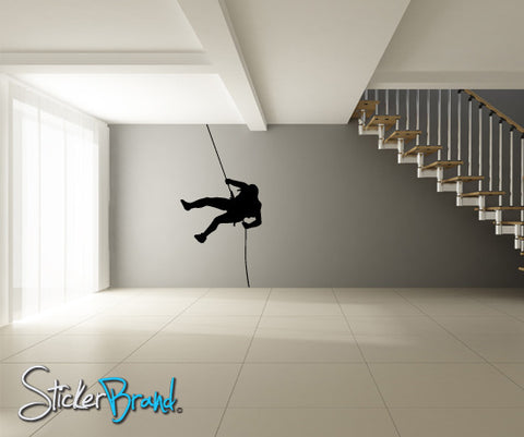 Vinyl Wall Decal Extreme Cliff Hanger Climber #769