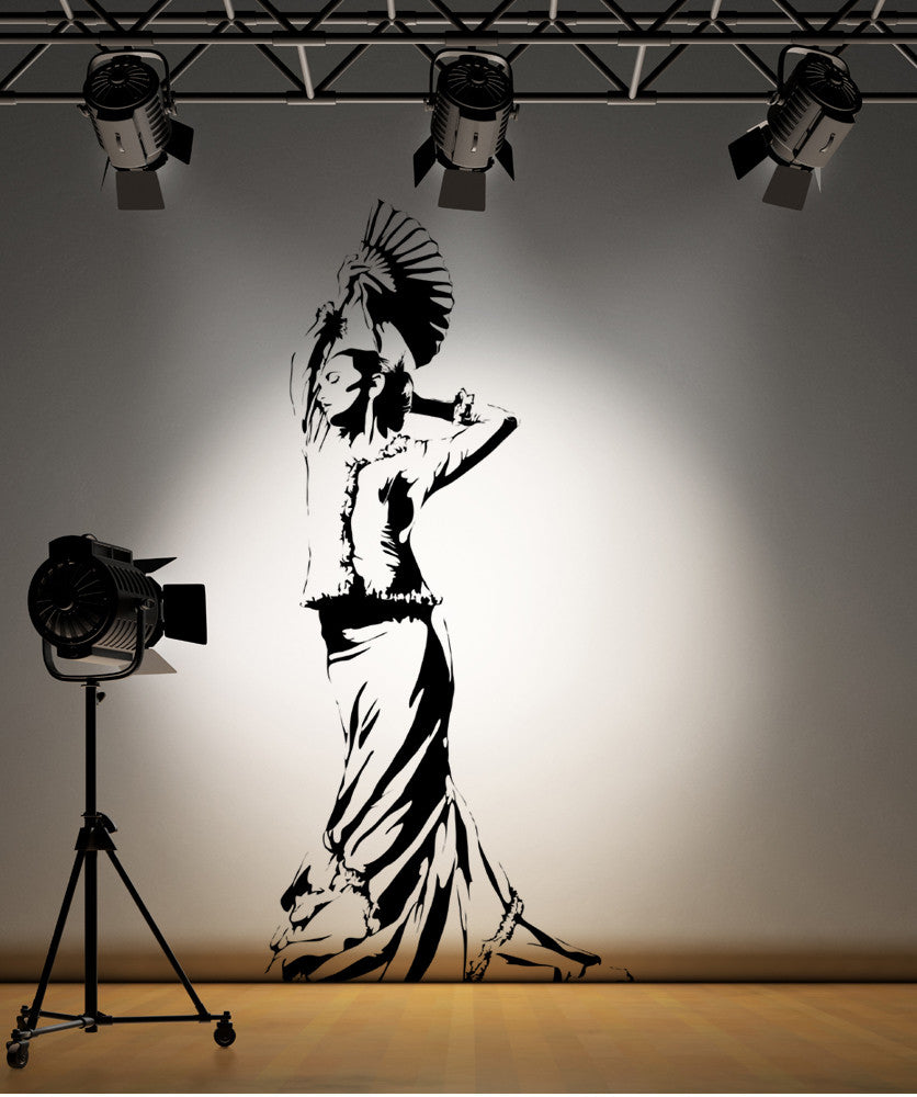 Vinyl Wall Decal Sticker Flamenco Dancer #AC171