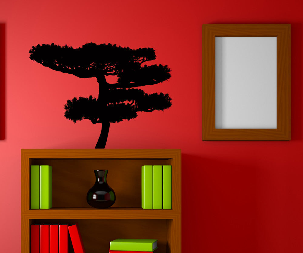 Vinyl Wall Decal Sticker Flat Bonsai #AC209