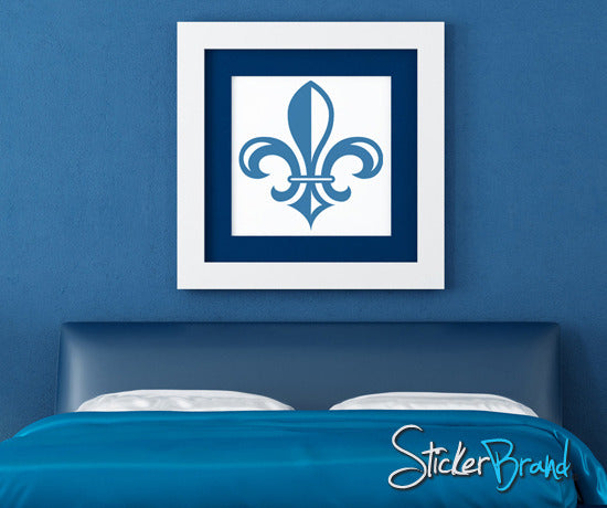 Vinyl Wall Decal Sticker French Fleur De Lys #KTudor106