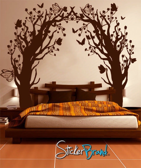 Vinyl Wall Decal Sticker Butterfly Floral Blossom Tree Tunnel GFoster - Vinyl wall decals butterflies
