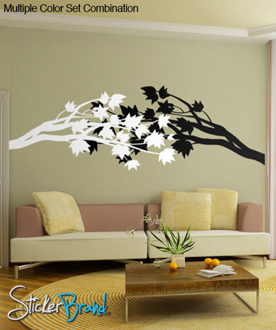 Vinyl Wall Decal Sticker Flower Branch Blossom #GWray102